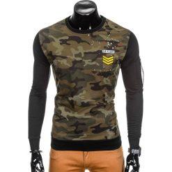 Bluzy męskie: BLUZA MĘSKA BEZ KAPTURA MORO B789 – CZARNA