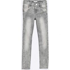 Name it - Jeansy dziecięce Polly 128-64 cm. Szare jeansy dziewczęce Name it, z bawełny. W wyprzedaży za 79,90 zł.