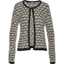 Sweter rozpinany z przędzy z długim włosem bonprix kamienisto-czarny. Szare kardigany damskie marki Mohito, l. Za 74,99 zł.