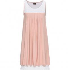 Sukienka shirtowa z koronką bonprix stary jasnoróżowy - biały. Różowe sukienki koronkowe marki numoco, l, z dekoltem w łódkę, oversize. Za 49,99 zł.