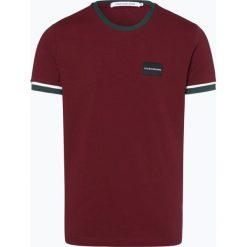 Calvin Klein Jeans - T-shirt męski, czerwony. Czerwone t-shirty męskie marki Calvin Klein Jeans, l, z aplikacjami, z jeansu. Za 169,95 zł.