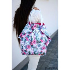 Kolorowa pojemna torba w katusy. Szare torby plażowe Pakamera, z bawełny. Za 80,00 zł.