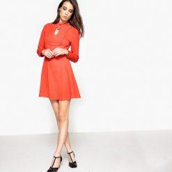 Długie sukienki: Sukienka z ozdobnym wiązaniem przy dekolcie, piękny tył