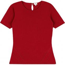 Sweter kaszmirowy w kolorze czerwonym. Czerwone swetry klasyczne damskie marki Ateliers de la Maille, z kaszmiru, z okrągłym kołnierzem. W wyprzedaży za 318,95 zł.