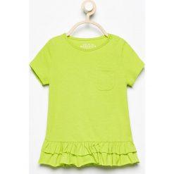 T-shirty damskie: T-shirt z falbankami – Zielony