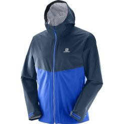 Kurtki sportowe męskie: Salomon Kurtka męska La Cote Flex 2.5L Surf The Web/Dress Blue r. XL (394252)