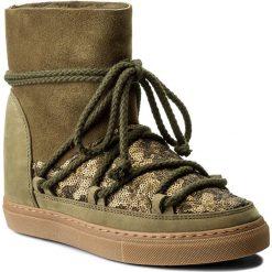 Buty INUIKII - Sneaker Wedge Sequin 30110  Olive. Zielone buty zimowe damskie Inuikii, z materiału, na niskim obcasie. W wyprzedaży za 639,00 zł.