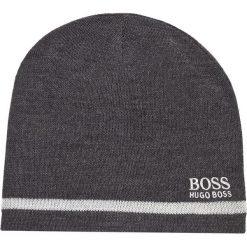 Czapka męska BOSS - Beanie Fleece 1 50371437 010. Szare czapki damskie Boss, z wełny. W wyprzedaży za 229,00 zł.