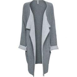 Płaszcz z domieszką wełny bonprix szaro-jasnoszary. Szare płaszcze damskie wełniane bonprix. Za 89,99 zł.