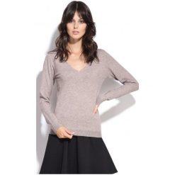 Swetry damskie: William De Faye Sweter Damski M Beżowy