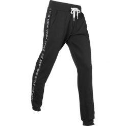 Spodnie dresowe, długie, Level 1 bonprix czarny. Czarne spodnie dresowe damskie bonprix, z dresówki. Za 74,99 zł.