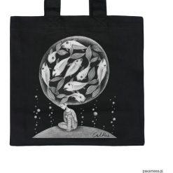 Ryby - torba premium. Czarne shopper bag damskie marki Pakamera, z materiału. Za 79,00 zł.