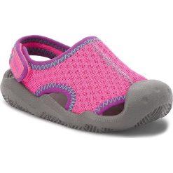 Sandały dziewczęce: Sandały CROCS – Swiftwater Sandal K 204024 Neon Magenta/Slate Grey
