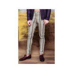 Spodnie slim fit fioletowe pasy. Fioletowe rurki męskie marki Reserved, l, z bawełny. Za 299,00 zł.