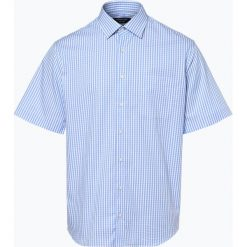 Andrew James - Koszula męska łatwa w prasowaniu, niebieski. Brązowe koszule męskie non-iron marki QUECHUA, m, z elastanu, z krótkim rękawem. Za 99,95 zł.