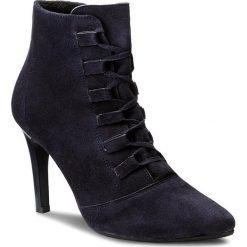 Botki OLEKSY - 483/435 Granatowy. Szare buty zimowe damskie marki Oleksy, ze skóry. W wyprzedaży za 259,00 zł.