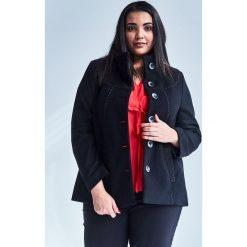 4c5b771b57 Czarna elegancka kurtka płaszcz Vera OVERSIZE PLUS SIZE WIOSNA. Czarne  kurtki damskie Moda Size Plus