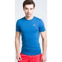 Odzież termoaktywna męska: Koszulka treningowa męska TSMF301 - niebieski melanż