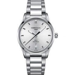 RABAT ZEGAREK CERTINA. Szare zegarki męskie marki W.KRUK, z cyrkonią, srebrne, na sztyftcie. W wyprzedaży za 1443,20 zł.