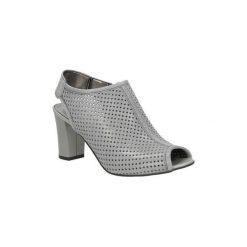 Rzymianki damskie: Sandały Casu  Sandały ażurowe na słupku  280