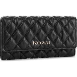 Duży Portfel Damski KAZAR - 34485-01-00  Black. Czarne portfele damskie Kazar, ze skóry. Za 399,00 zł.