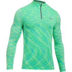 Bluzy męskie: Under Armour Bluza męska Threadborne Seamless  1/4 Zip zielona r. M (1298911-974)