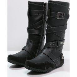 Dockers by Gerli Kozaki schwarz. Czarne buty zimowe damskie Dockers by Gerli, z materiału, na wysokim obcasie. Za 219,00 zł.