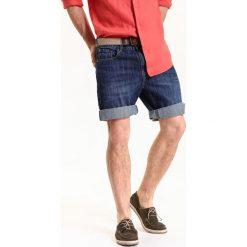 SZORTY MĘSKIE GŁADKIE. Szare bermudy męskie Top Secret, na lato, z jeansu. Za 39,99 zł.