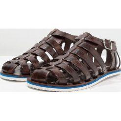 Sandały męskie skórzane: Melvin & Hamilton Sandały classic dark brown/modica white/blue