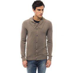 Swetry rozpinane męskie: Kardigan w kolorze szarobrązowo-beżowym
