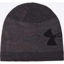 Under Armour - Czapka. Czarne czapki zimowe męskie marki Under Armour, na zimę, z dzianiny. Za 119,90 zł.