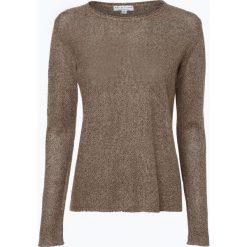 Swetry damskie: Marie Lund – Sweter damski z lnu, brązowy
