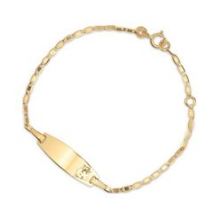 RABAT Złota Bransoletka - złoto żółte 585. Żółte bransoletki damskie na nogę marki W.KRUK, złote. W wyprzedaży za 299,00 zł.