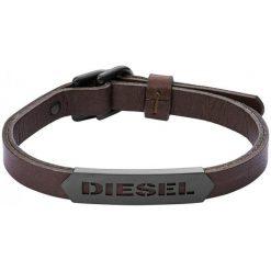 Diesel Męska Bransoletka Skóra dx1001001. Czarne bransoletki męskie Diesel. W wyprzedaży za 356,00 zł.