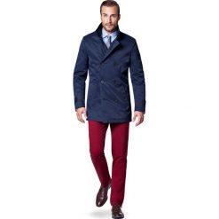 Płaszcz Granatowy Apollo. Niebieskie płaszcze na zamek męskie marki LANCERTO, na zimę, l, z bawełny, eleganckie. W wyprzedaży za 349,90 zł.