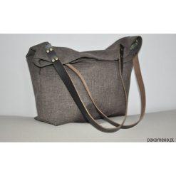 Torba tote XXL - brązowa. Brązowe torebki klasyczne damskie Pakamera, ze skóry, duże. Za 129,00 zł.