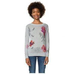 Swetry klasyczne damskie: Desigual Sweter Damski Xs Szary