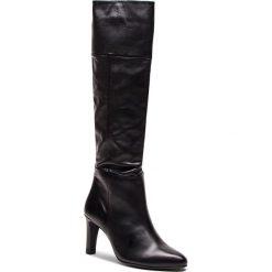 Kozaki HÖGL - 6-106623 Black 0100. Czarne buty zimowe damskie HÖGL, z materiału, przed kolano, na wysokim obcasie. Za 1039,00 zł.