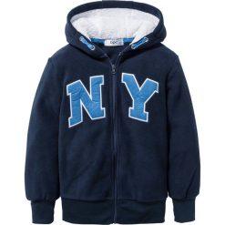 Odzież dziecięca: Bluza z polaru z aplikacją bonprix ciemnoniebieski