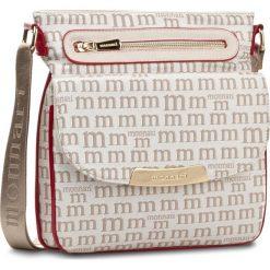 Torebka MONNARI - BAG3220-015 Beige With White. Brązowe listonoszki damskie Monnari, z materiału. W wyprzedaży za 129,00 zł.