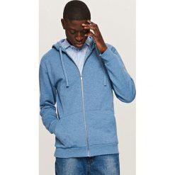 Odzież męska: Rozpinana bluza dresowa basic - Niebieski
