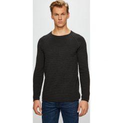 Review - Sweter. Czarne swetry klasyczne męskie Review, l, z bawełny, z okrągłym kołnierzem. Za 129,90 zł.