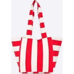 Pieces - Torebka. Szare torebki klasyczne damskie Pieces, z bawełny, duże. W wyprzedaży za 89,90 zł.