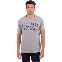 T-shirty męskie z nadrukiem: Koszulka w kolorze szarym