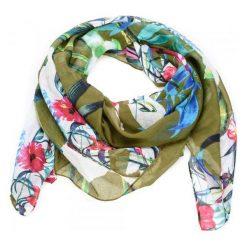 Desigual Chusta Damska Gardenette, Khaki. Brązowe chusty damskie marki Desigual, w kolorowe wzory. W wyprzedaży za 119,00 zł.