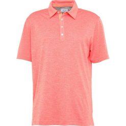 Adidas Golf TRICOLOR PIQUE  Koszulka polo coral. Pomarańczowe koszulki polo adidas Golf, m, z elastanu, na golfa. Za 359,00 zł.