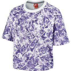 Bluzki sportowe damskie: koszulka sportowa damska NIKE TOP ALLOVER PRINTED / 840651-540 – NIKE TOP ALLOVER PRINTED