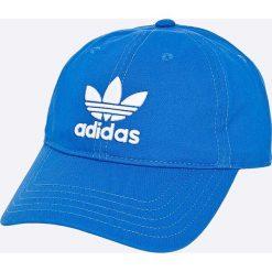 Adidas Originals - Czapka Trefoil Cap. Niebieskie czapki z daszkiem męskie adidas Originals, z bawełny. W wyprzedaży za 59,90 zł.