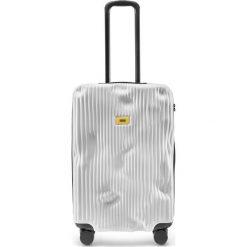 Walizka Stripe średnia Bianco White. Szare walizki marki Crash Baggage, z materiału. Za 1225,00 zł.