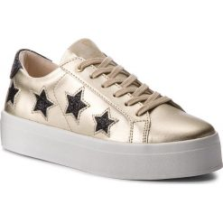 Sneakersy GUESS - FLFHS3 LEM12 GOLD. Żółte sneakersy damskie marki Guess, z materiału. W wyprzedaży za 339,00 zł.